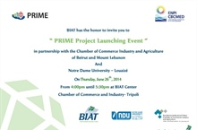 PRIME Project Launching Event - Tripoli, North Lebanon